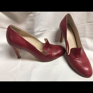 Red leather heels made in Italy Sz. 37.